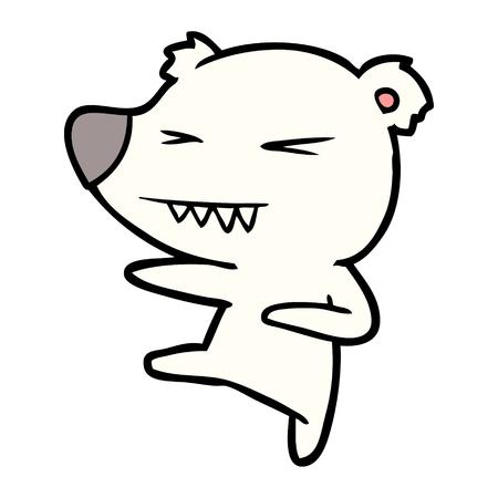 발 차기 북극곰 만화