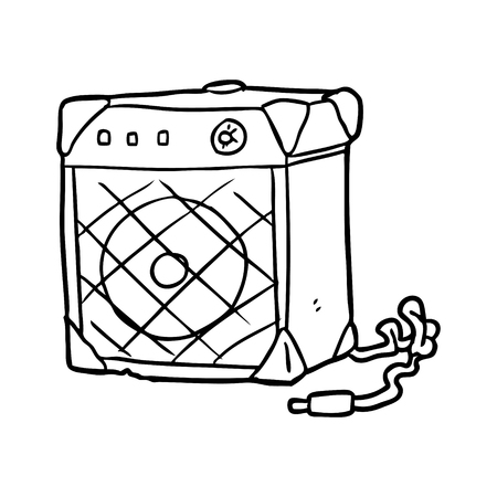 line drawing of a electric guitar amp