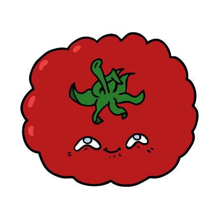 Hand drawn cartoon tomato