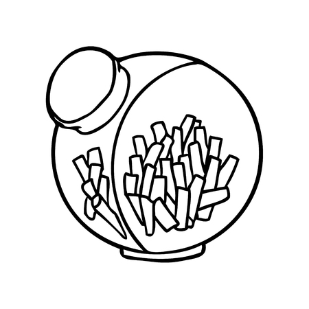 Line drawing of a candy in a sweet jar vector Ilustração