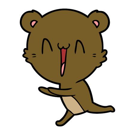 running bear cartoon Vector illustration.