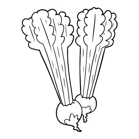 line drawing of a beetroots
