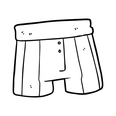 line drawing of a boxer shorts