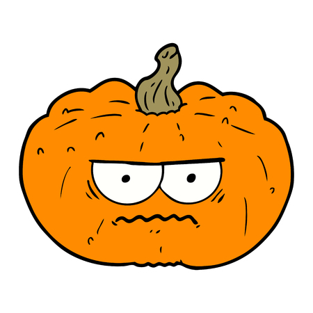 Hand drawn cartoon pumpkin Иллюстрация