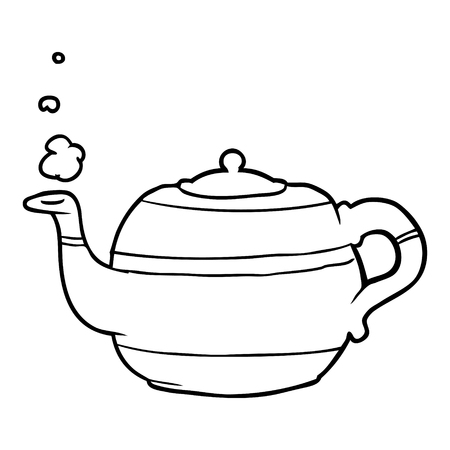 line drawing of a tea pot