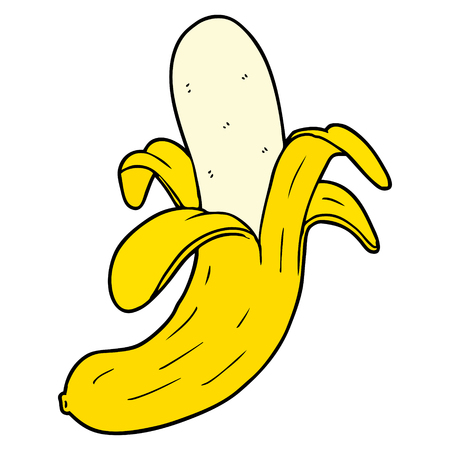 Hand drawn cartoon banana