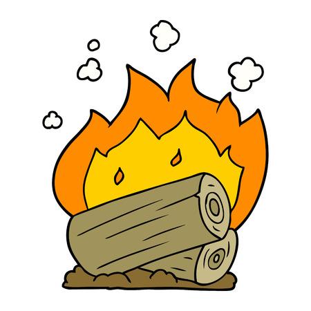 cartoon campfire Vector illustration.