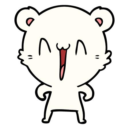 happy polar bear cartoon Ilustração