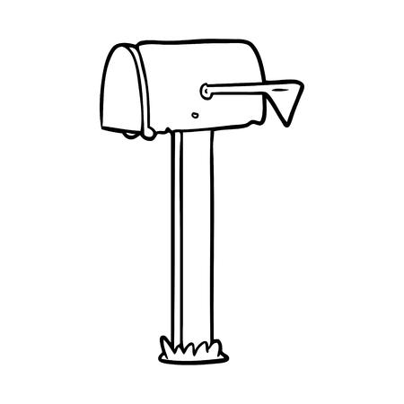 lijntekening van een mailbox Stock Illustratie
