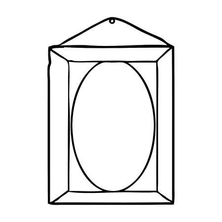 line drawing of a picture frame