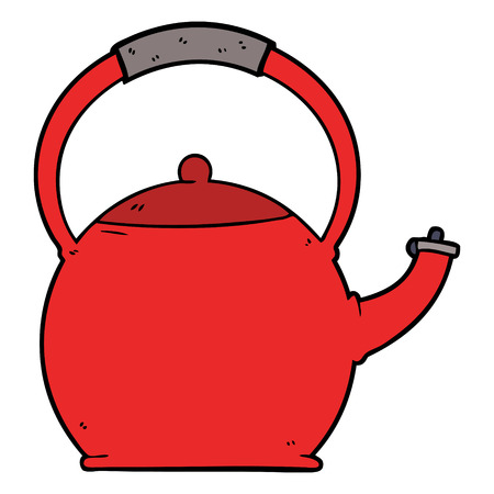 Red cartoon kettle vector 写真素材 - 95055759
