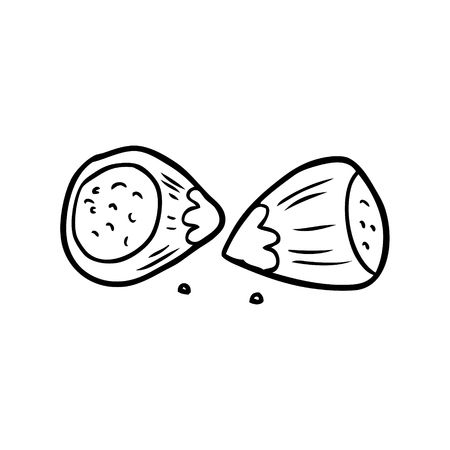 line drawing of a hazelnuts