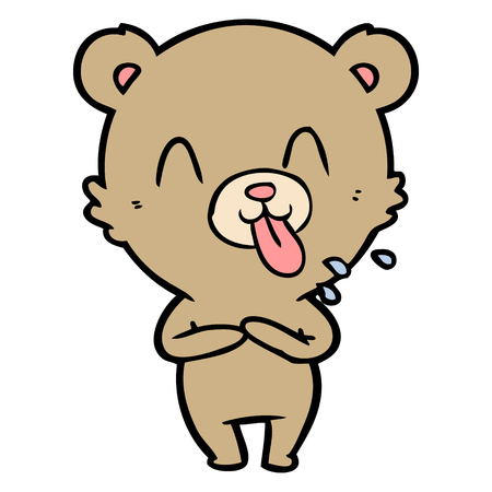 손으로 그린 무례 만화 곰 스톡 콘텐츠 - 95002725