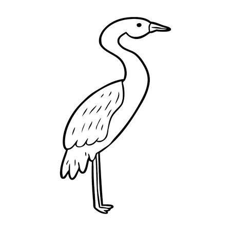 Hand drawn of a stork Иллюстрация