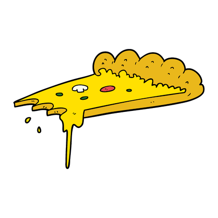 Cartoon slice of pizza