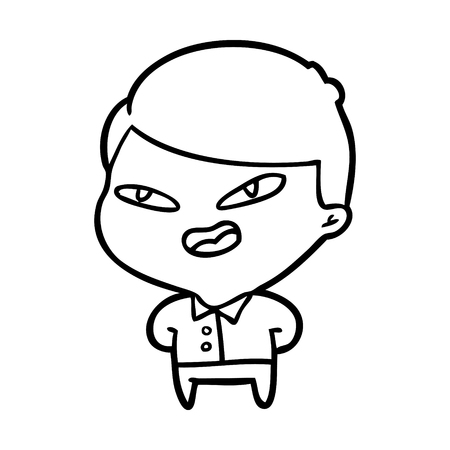 Hand drawn of a happy businessman Illustration