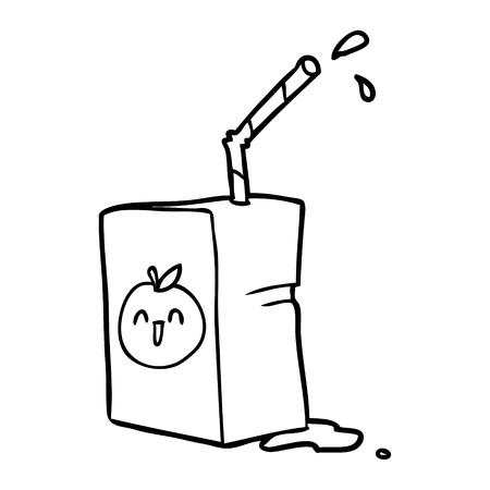 Hand drawn of a apple juice box