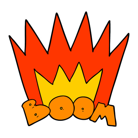 Hand drawn cartoon boom sign Reklamní fotografie - 95003555