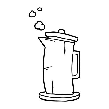 Hand drawn of a old style kettle Illusztráció