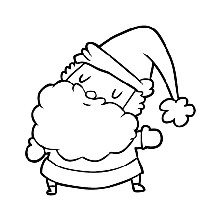 line drawing of a santa claus