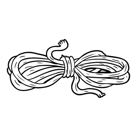 Hand drawn line drawing of a rope
