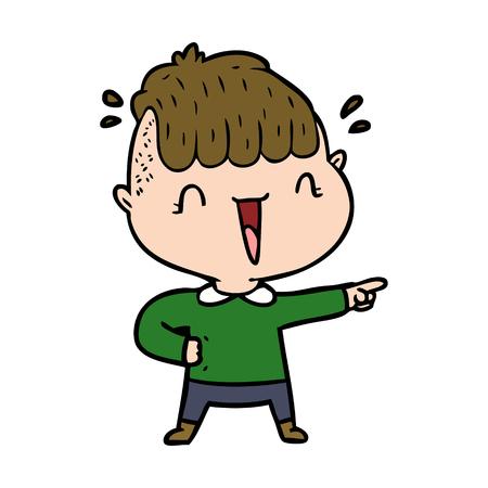 cartoon happy boy surprised  イラスト・ベクター素材