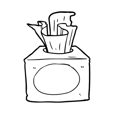line drawing of a box of tissues Vettoriali