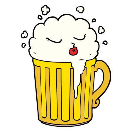 cartoon mug of beer Ilustração