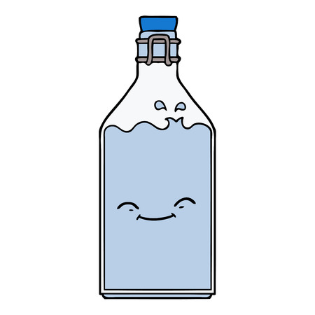 cartoon old water bottle