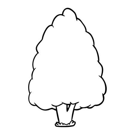 line drawing of a tall tree Çizim