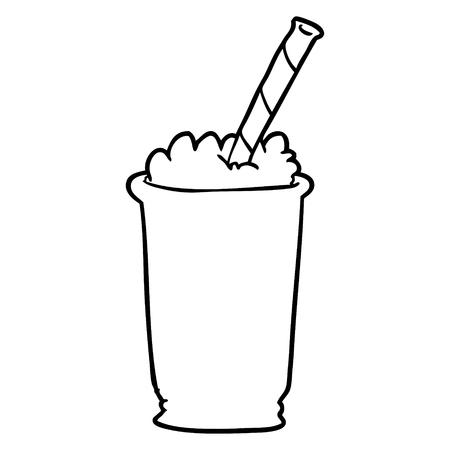 line drawing of a milkshake