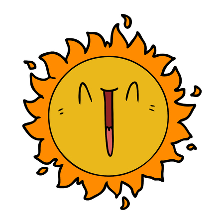 Soleil de dessin animé heureux Banque d'images - 94936312