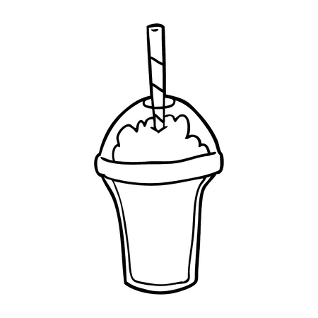 line drawing of a smoothie 向量圖像