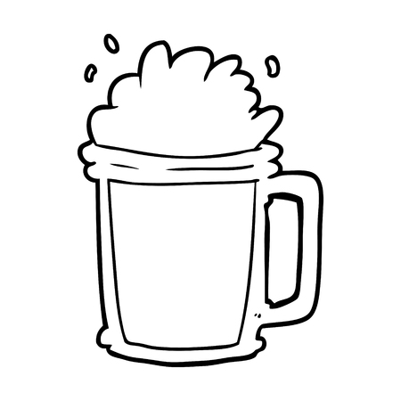 line drawing of a pint of ale