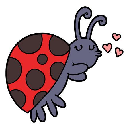 cartoon ladybug illustration Illustration