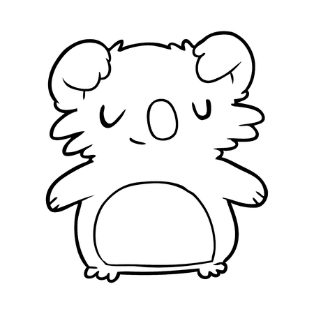 cute line drawing of a koala