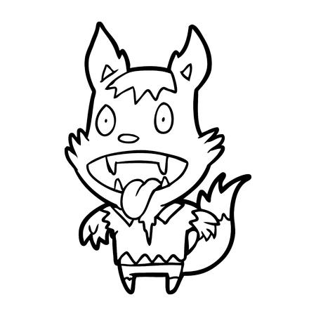 Hand drawn Halloween werewolf Reklamní fotografie - 95005775