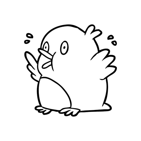 Hand drawn excited robin Stock Illustratie