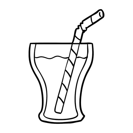 Hand drawn glass of cola 向量圖像