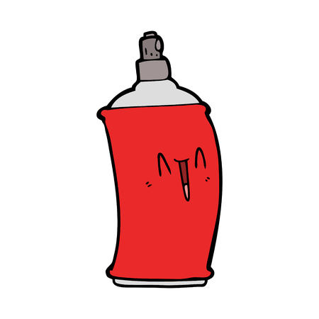 Hand drawn cartoon happy spray can  イラスト・ベクター素材