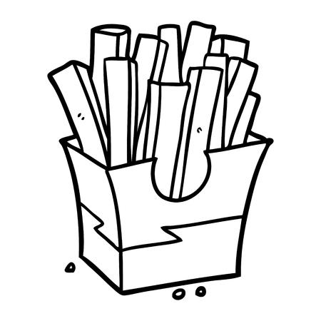 Hand drawn junk food fries Banco de Imagens - 95006260