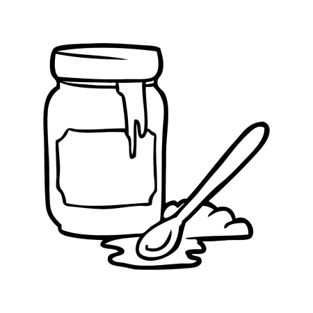 Hand drawn jar of honey