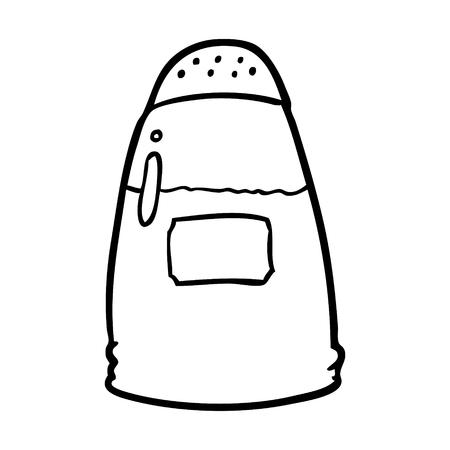 Hand gezeichneter Salzstreuer Standard-Bild - 95070607