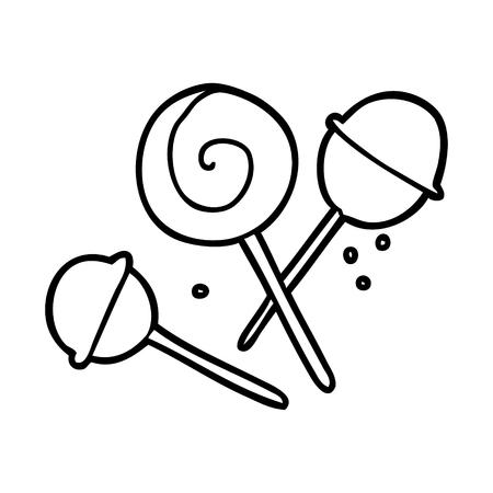 Hand drawn traditional lollipop