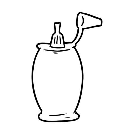 Hand drawn tomato ketchup bottle Illustration