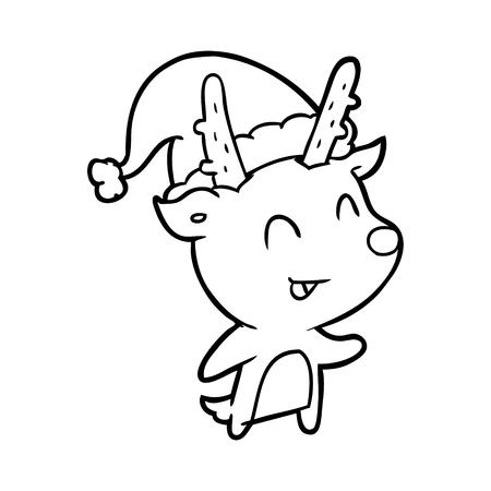 Hand drawn Christmas reindeer