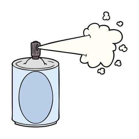 Cartoon aerosol spray can isolated on white background Illustration