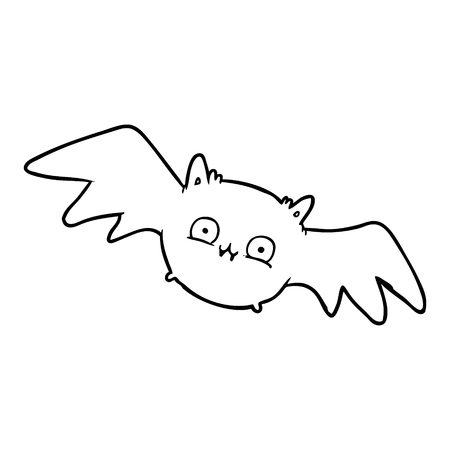 Hand drawn vampire Halloween bat