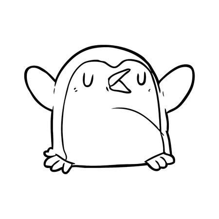Hand drawn penguin