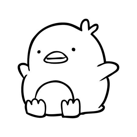 Hand drawn cute penguin